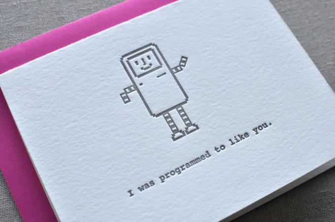 <p> Anh được lập trình để thích em.</p>