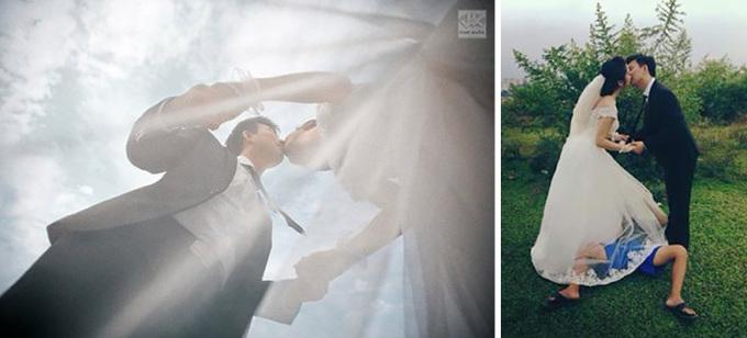 """<p> Sự thật """"bên dưới"""" bức ảnh cưới lãng mạn.</p>"""