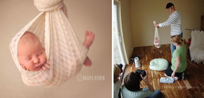 <p> Chụp em bé cũng vậy.</p>