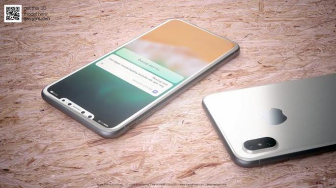 <p> Máy ảnh kép ở phía sau đặt dọc thay vì xoay ngang như trên iPhone 7 Plus. Cụm camera tạo điểm nhấn bởi tấm kính màu đen, hỗ trợ quét vật thể 3D và công nghệ thực tế tăng cường (AR).</p>