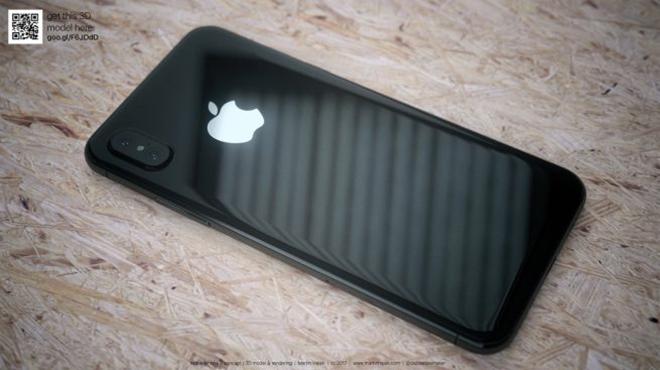 <p> Các nhà thiết kế cũng dựng bản iPhone 8 đen với khung thép, mặt lưng bằng kính bóng. Mẫu điện thoại kỷ niệm 10 năm của Apple có thể sẽ được trang bị sạc không dây.</p>