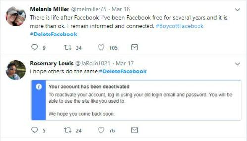 Hashtag #DeleteFacebook đang tràn ngập các mạng xã hội.