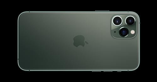 Mặt lưng của iPhone 11 Pro và Pro Max có khung viền làm từ thép, mặt lưng kính dạng mờ.