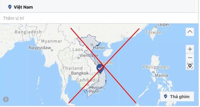 Facebook từng dùng bản đồ tương tự hai năm trước và phải xin lỗi người dùng Việt Nam về sự cố.