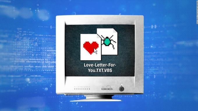 Virus Iloveyou nhắm đến người dùng các nước giàu có như Hong Kong, châu Âu, Mỹ. Ảnh: CNN.