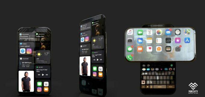Ý tưởng iPhone 14 màn hình trượt xoay