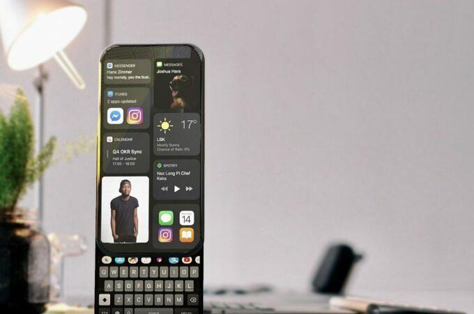 Ý tưởng iPhone 14 màn hình trượt xoay - 4