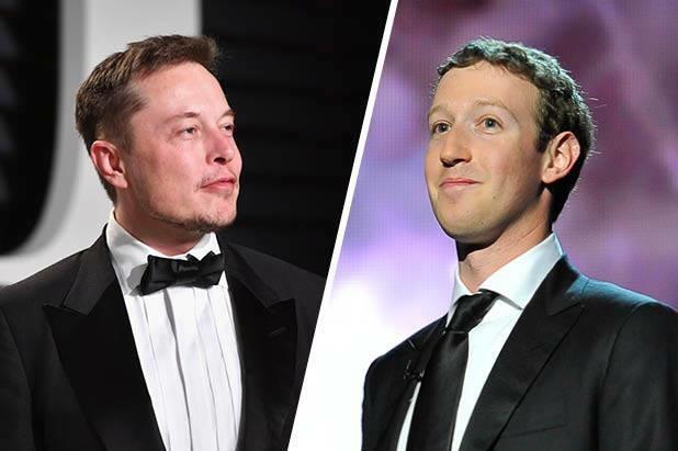 Elon Musk (trái) và Mark Zuckerberg nhiều lần có quan điểm đối lập nhau. Ảnh: TheWrap.