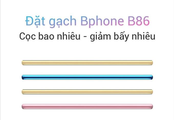 Ảnh đăng tải trên Fanpage Bphone về việc đặt gạch Bphone B86.