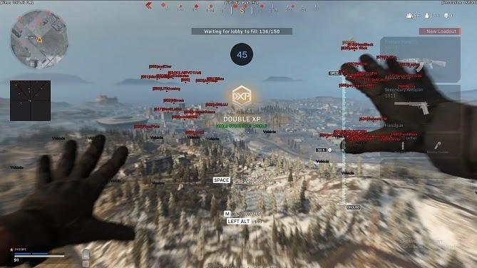 Phần mềm wallhack cho phép nhìn xuyên địa hình trong CoD: Warzone. Ảnh: The Verge.