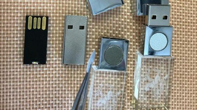 Bên trong5GbioShield không khác gì một USB thông thường. Ảnh: BBC.