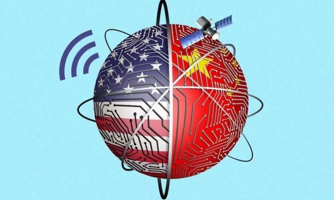 Thế giới công nghệ đang chia rẽ vì căng thẳng Mỹ - Trung. Ảnh: Telegraph.