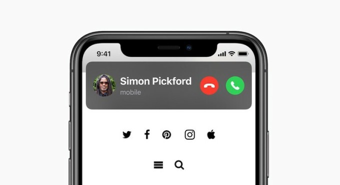 Cách hiển thị cuộc gọi đến của iOS 14 được đánh giá cao.