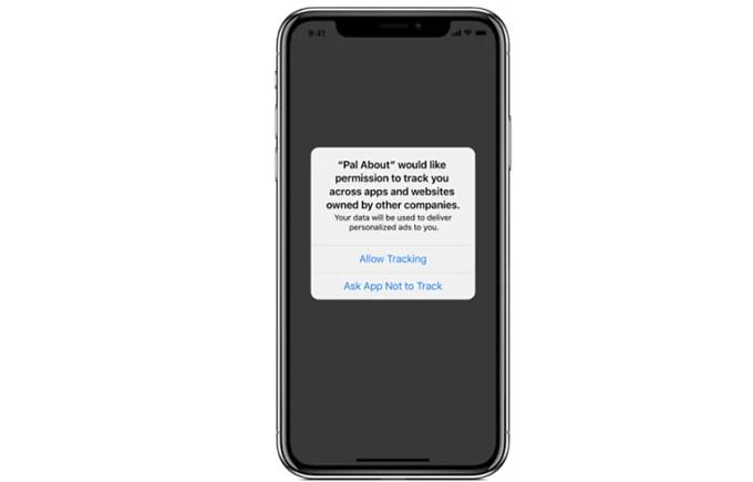 Thông báo bảo mật mới trên iOS 14. Ảnh: 9to5mac