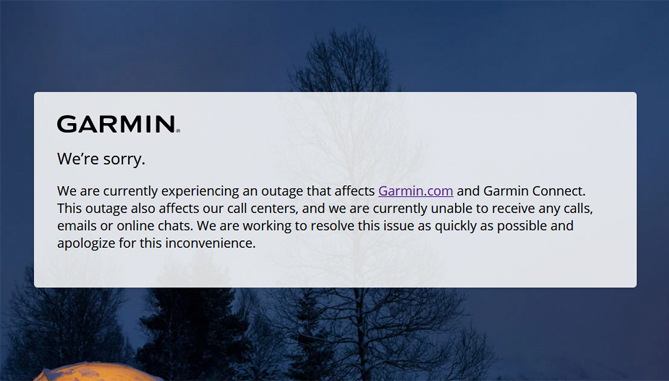 Garmin suffered ransomware attack