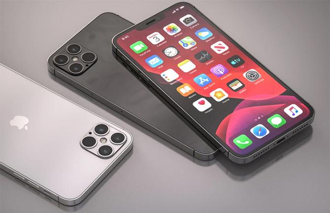 Ảnh dựng iPhone 12 theo tin đồn với phần viền vuông vức như iPhone 5.