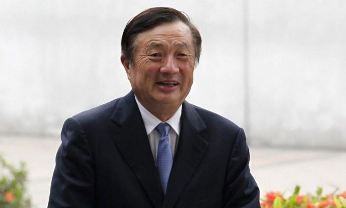 Người sáng lập Huawei Nhậm Chính Phi. Ảnh: Reuters.