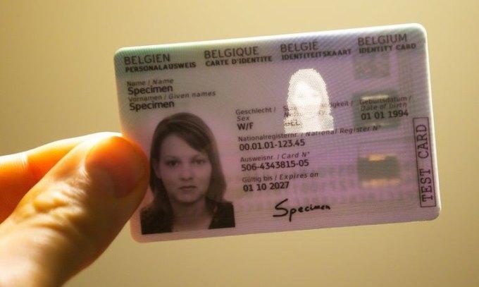 Mẫu e-ID được Bỉ phát hành. Ảnh: Brussel Times.