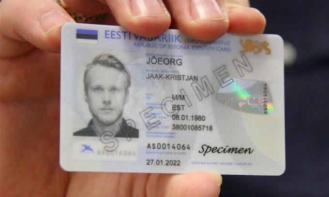 Thẻ căn cước điện tử của Estonia. Ảnh: EGA.