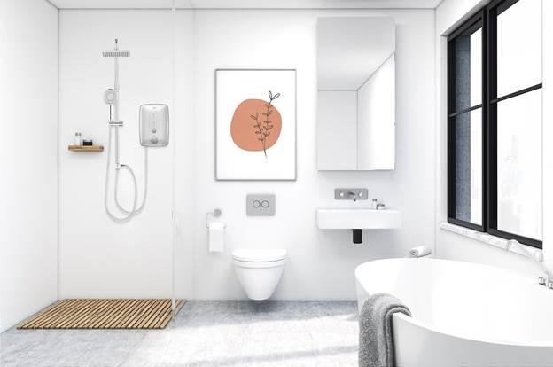 Máy nước nóng Beko có thiết kế hài hòa với không gian kiến trúc hiện đại.