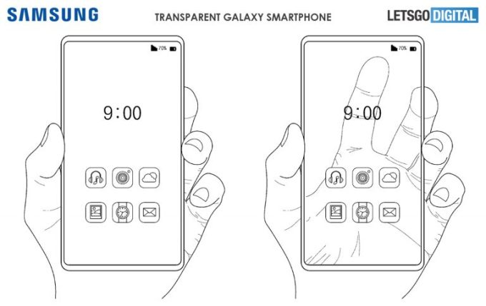 Samsung may make a smartphone transparent