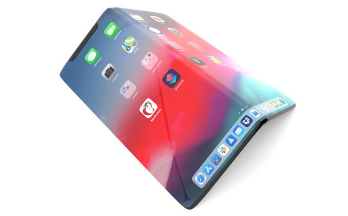 Một concept về iPhone gập. Ảnh: MacRumors.