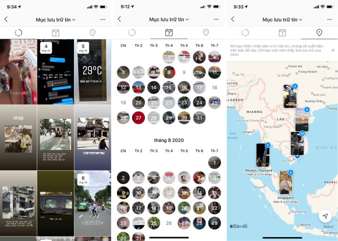 Bản đồ lưu trữ mới được Instagram đưa về kho lưu trữ.