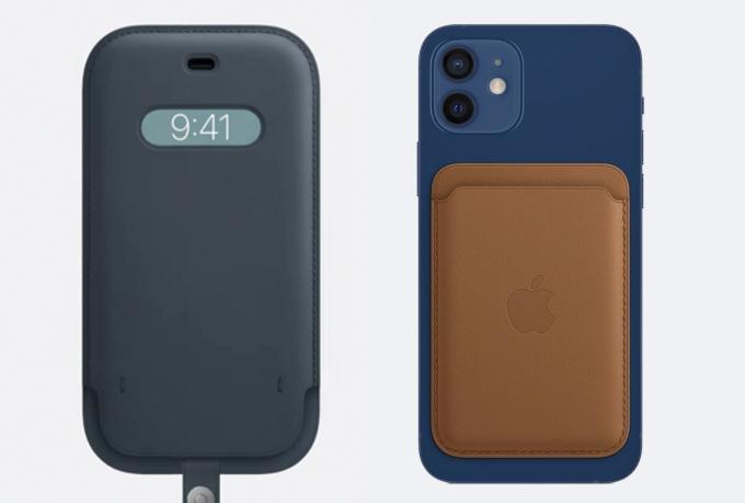 Bao da (bên trái) và ốp lưng kiêm ví (bên phải) của Apple.