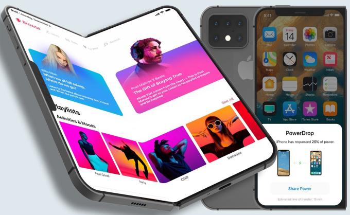 Ý tưởng iPhone Fold với màn hình gập như Samsung Galaxy Fold. Ảnh: EverythingApplePro.