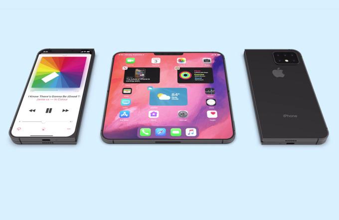 Một concept iPhone gập tương tự Samsung Galaxy Fold. Ảnh: Techeblog.