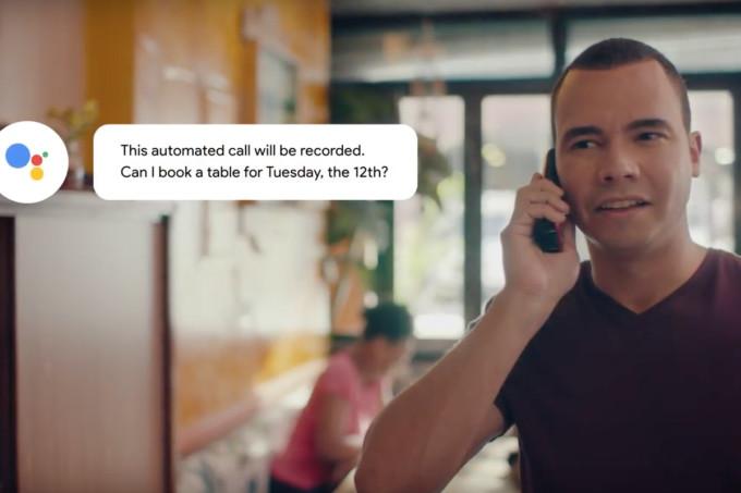 Google Duplex gọi đặt bàn hộ người dùng. Ảnh: Google.