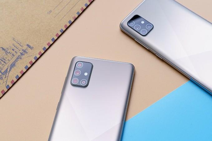 Galaxy A71 thừa hưởng cụm camera tiệm cận flagship. Ảnh: Samsung.
