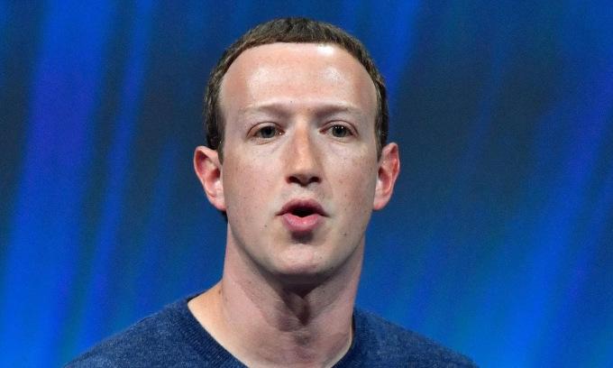 Ông chủ Facebook Mark Zuckerberg trong một sự kiện năm 2018. Ảnh: AFP.