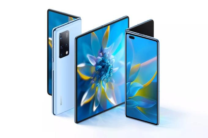 Huawei Mate X2 có thiết kế gần giống Samsung Galaxy Z Fold 2. Ảnh: Huawei.