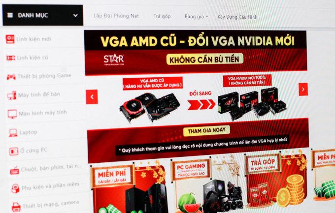 Một hệ thống tin học ở TP HCM thông báo thu mua cả những VGA cũ, hư hỏng.