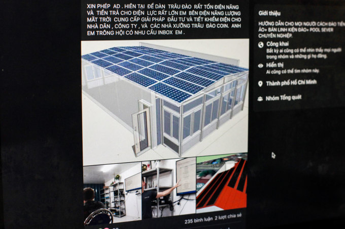Chủ đề dùng điện mặt trời để khai thác tiền điện tử thu hút nhiều sự quan tâm của cộng đồng thợ đào Việt Nam.