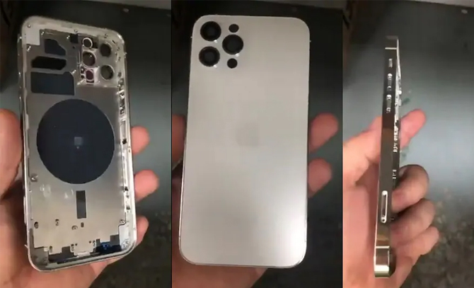 Hình ảnh một nguyên mẫu iPhone 12 bị lộ trước vài tuần so với thời điểm ra mắt chính thức. Ảnh: NDTV
