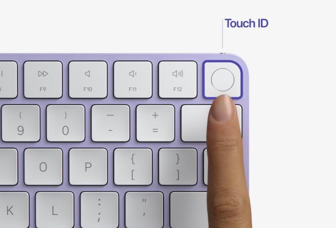 Bàn phím mới của Apple hỗ trợ cảm biến vân tay Touch ID.