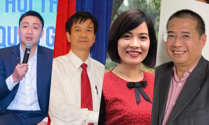 Từ trái qua phải, ông Hoàng Minh Chiến, ông Trần Văn Hảo, bà Vũ Thị Minh Tú và ông Đào Hà Trung sẽ tham gia phiên bốn của CTO Talks diễn ra vào 10h ngày 25/5.