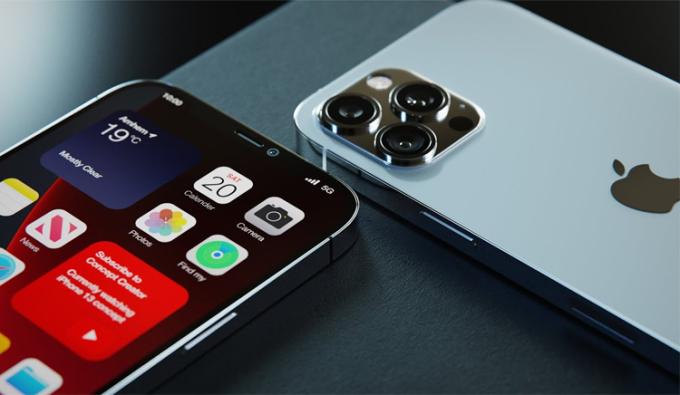 Tấm nền OLED trên iPhone 13 do Samsung, LG sản xuất. Ảnh minh họa
