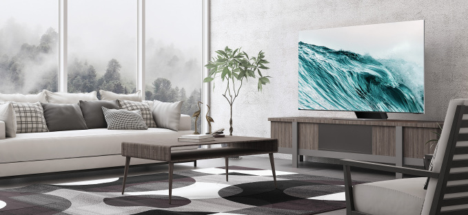 Neo QLED góp phần tạo nên không gian sống hiện đại.