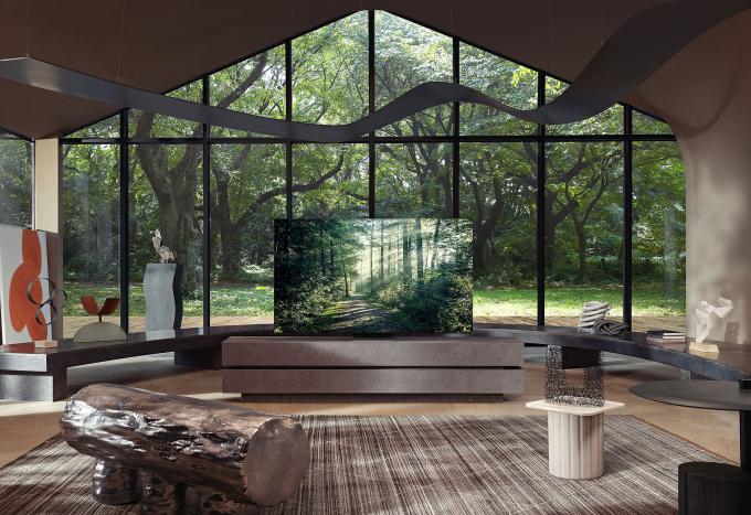 TV Neo QLED có thể trở thành một phần trong tổng thể kiến trúc của ngôi nhà.