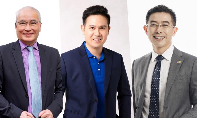 Ba diễn giả tham gia tọa đàm sáng mai: ông Ngô Minh Hải, ông Phạm Văn Tam và ông Hoàng Việt Anh.