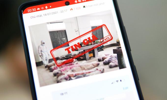 Tin giả về nạn nhân Covid-19 tại TP HCM, nhưng thực chất là hình ảnh tại Myanmar.
