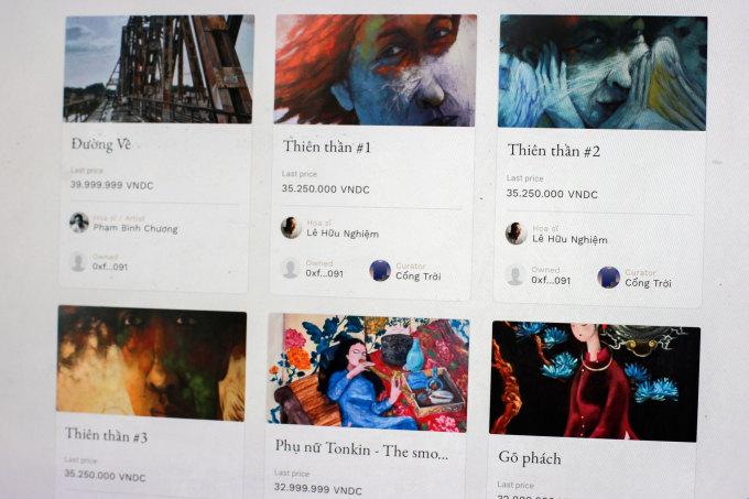 Các tác phẩm nghệ thuật Việt được số hoá và bán trên Cổng trời.