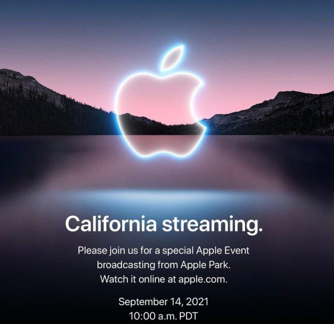 Thông tin về sự kiện ngày 14/9 trên website Apple. Ảnh: Apple