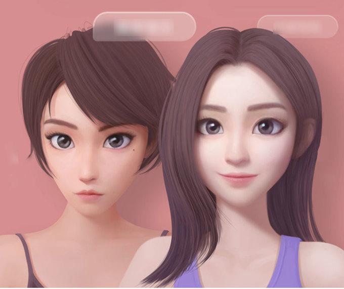 Hai hình mẫu bạn gái ảo Zhibing (trái) và Zhilan (trái) đang được Xiaomi phát triển.