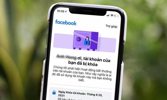 Từ đêm 20/9, nhiều người dùng Facebook tại Việt Nam bất ngờ nhận được thông báo tài khoản bị khóa.