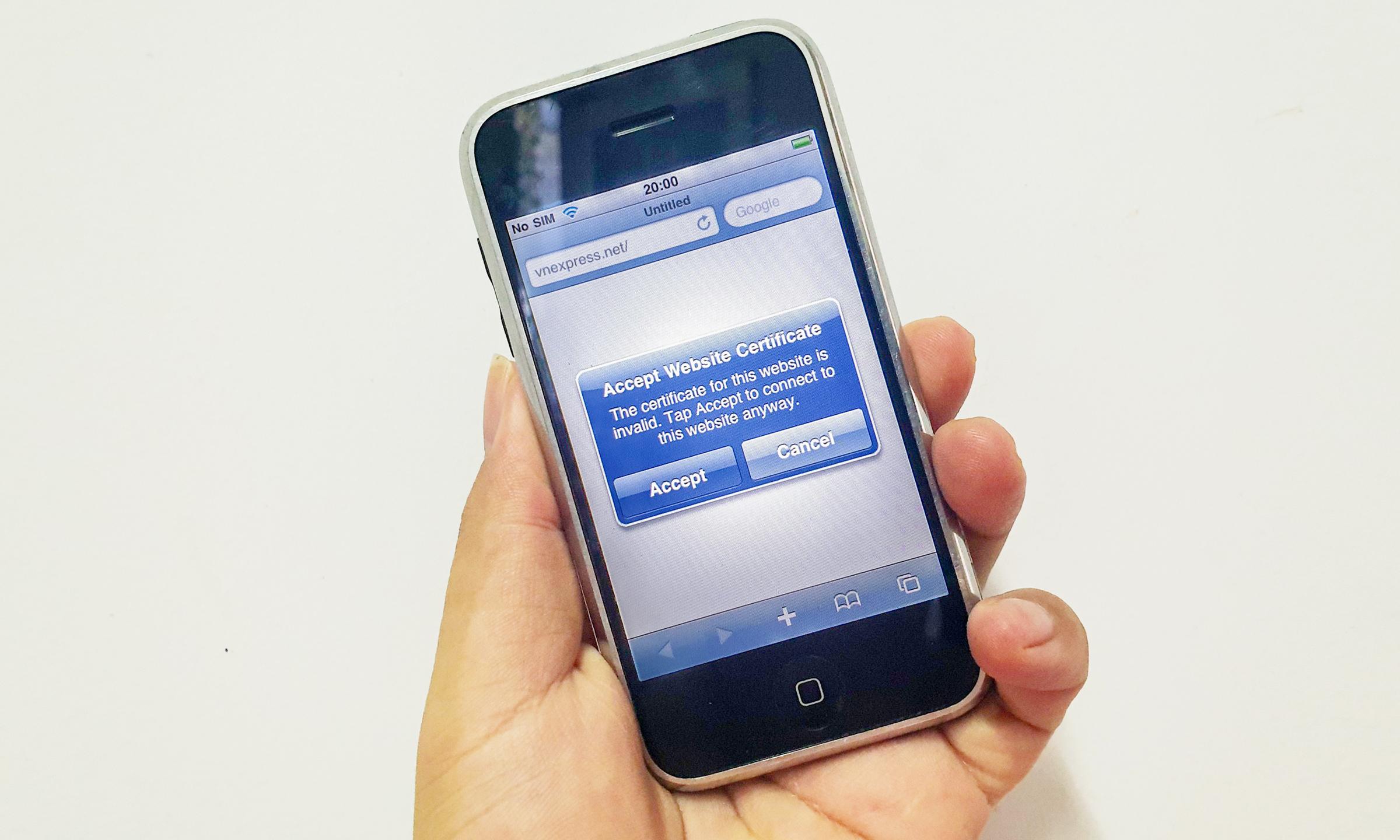 điện thoại không vào được internet